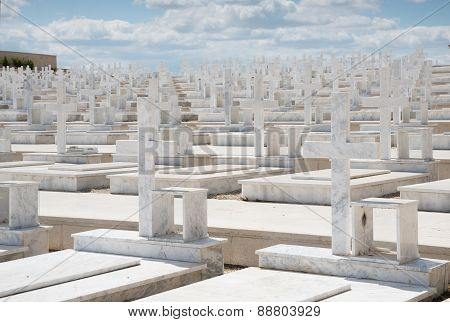 Memorial Military Cemetery In Nicosia, Cyprus