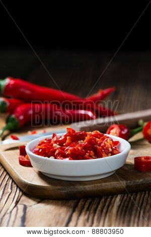 Red Chilis In A Bowl (cutted)