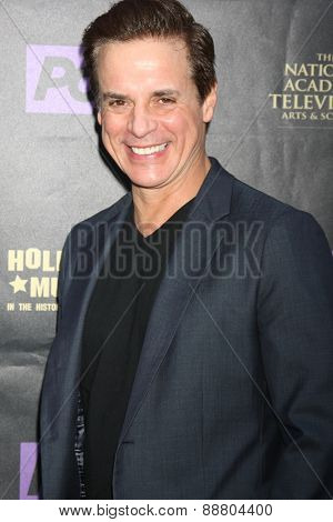 LOS ANGELES - April 21:  Christian LeBlanc at the  2015 Daytime EMMY Awards Kick-off Party at the Hollywood Museum on April 21, 2015 in Hollywood, CA