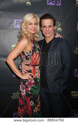 LOS ANGELES - April 21:  Jessica Collins, Christian LeBlanc at the  2015 Daytime EMMY Awards Kick-off Party at the Hollywood Museum on April 21, 2015 in Hollywood, CA