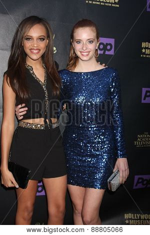 LOS ANGELES - April 21:  Reign Edwards, Ashlyn Pearce at the  2015 Daytime EMMY Awards Kick-off Party at the Hollywood Museum on April 21, 2015 in Hollywood, CA