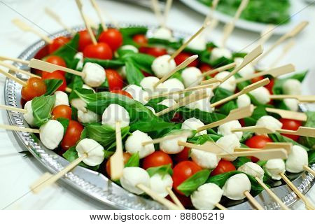 Tomato Mozzarella Salad On Sticks