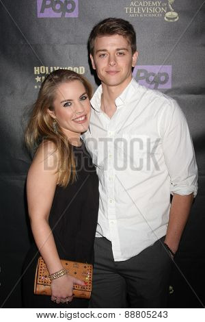LOS ANGELES - April 21:  Kristen Alderson, Chad Duell at the  2015 Daytime EMMY Awards Kick-off Party at the Hollywood Museum on April 21, 2015 in Hollywood, CA