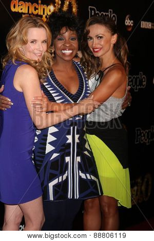 LOS ANGELES - April 21:  Lea Thompson, Gladys Knight, Karina Smirnoff at the
