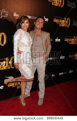 LOS ANGELES - April 21:  Carrie Ann Inaba, Bruno Tonioli at the