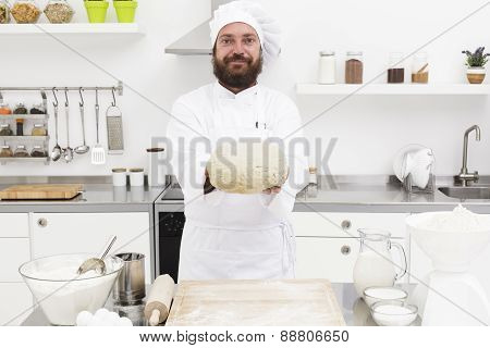 Baker With Dough