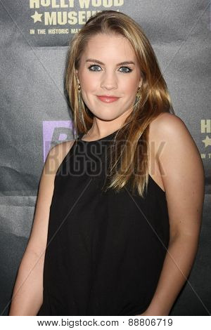 LOS ANGELES - April 21:  Kristen Alderson at the  2015 Daytime EMMY Awards Kick-off Party at the Hollywood Museum on April 21, 2015 in Hollywood, CA