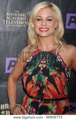 LOS ANGELES - April 21:  Jessica Collins at the  2015 Daytime EMMY Awards Kick-off Party at the Hollywood Museum on April 21, 2015 in Hollywood, CA