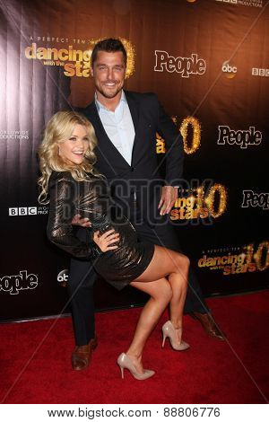 LOS ANGELES - April 21:  Witney Carson, Chris Soules at the