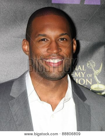 LOS ANGELES - April 21:  Lawrence Saint Victor at the  2015 Daytime EMMY Awards Kick-off Party at the Hollywood Museum on April 21, 2015 in Hollywood, CA