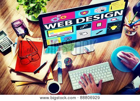 Web Design Development Style Ideas Interface Concept