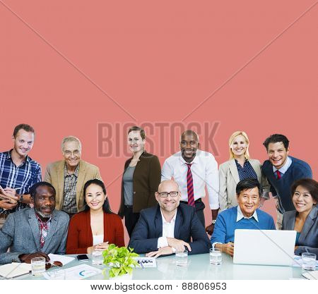 Adult Group of People Occupation Smiling  Concept