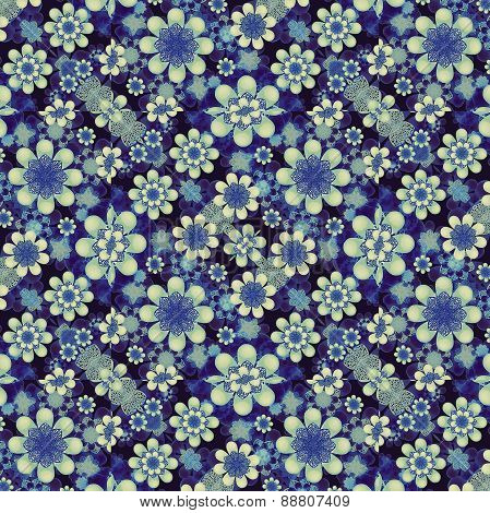 Modern Geometric Floral Pattern Collage