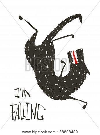 Black Wolf Falling Down