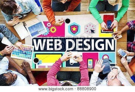 Web Design Development Style Ideas Interface Concept