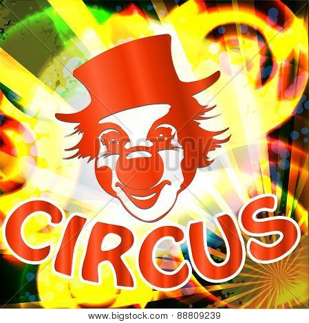 Circus Billboard With Clown Face