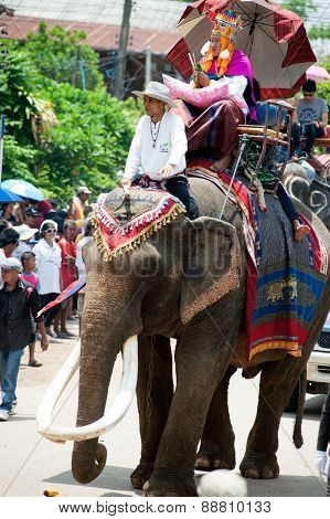 Ordination Parade On Elephant's Back Festival.