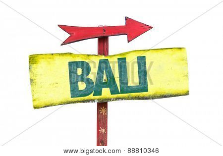 Bali sign isolated on white