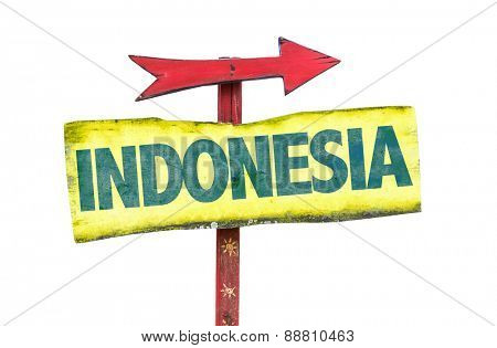Indonesia sign isolated on white