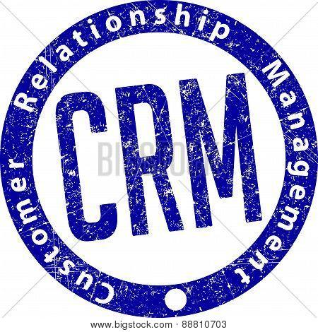 Crm (customer Relationship Management) Rubber Stamp
