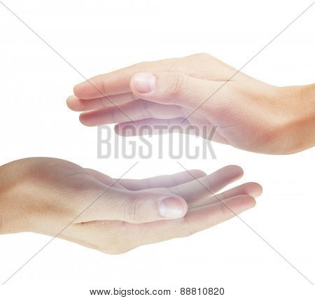 Open Man hand sign isolated
