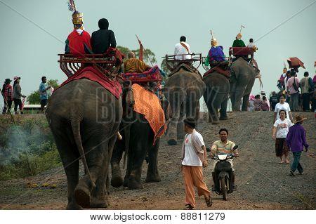 Ordination Parade On Elephant's Back Festival.