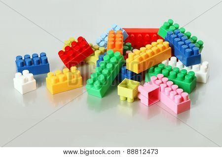 Colorful Plastic Building Blocks