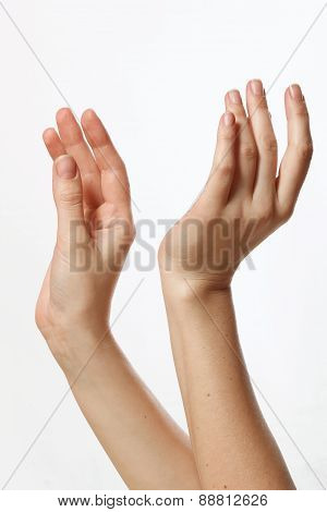 Beautiful And Flexible Female Hands