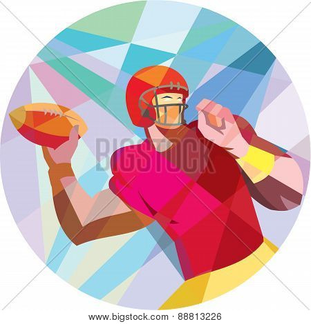 American Football Quarterback Qb Low Polygon