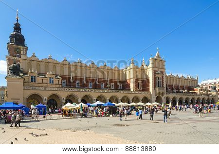 Cloth Hall (Sukiennice) in Cracow, Poland.