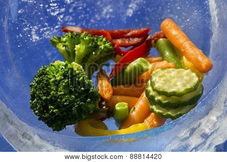Vegetables In The Ice