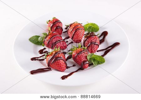 strawberry and chocolate
