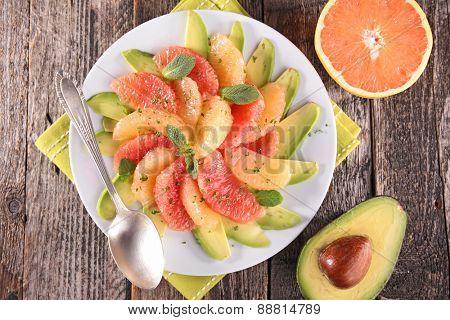 avocado and grapefruit