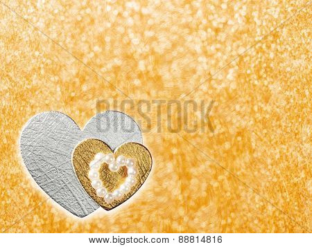 Holidays card with heart as a symbol of love/valentines day card