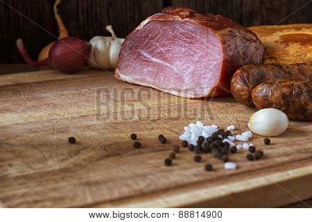 Smoked Sausage And Meat