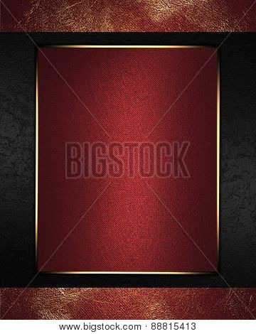 Abstract Red Background With Gold Worn With Red Nameplate