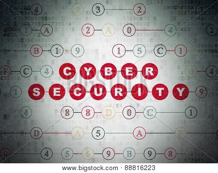 Privacy concept: Cyber Security on Digital Paper background