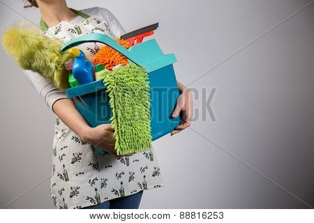 Housewife Holding Her Tools