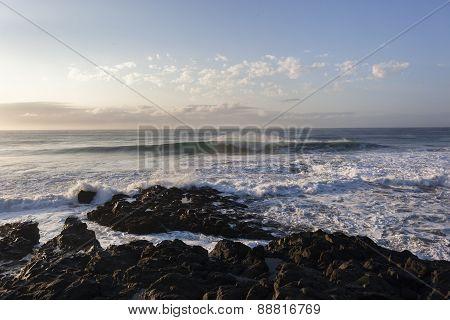 Wave Rocky Coastline Landscape