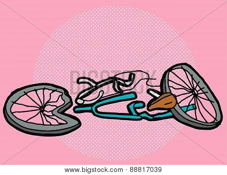 Crushed Bike Over Pink