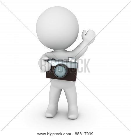 3D Character with Photo Camera