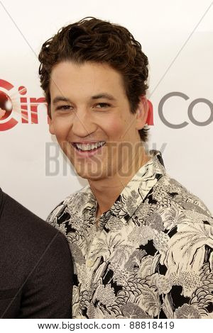 LAS VEGAS - APR 23: Miles Teller at the Twentieth Century Fox 2015 Presentation at Cinemacon at Caesars Palace on April 23, 2015 in Las Vegas, NV