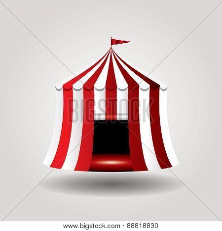 vector circus tent icon