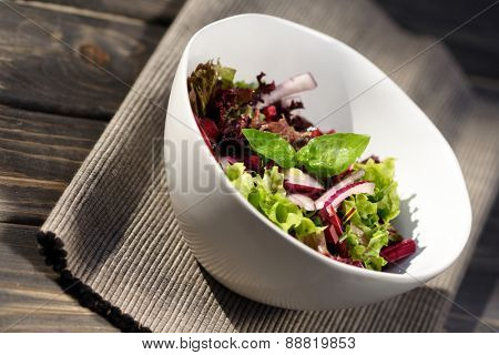 Close up of salad in bowl