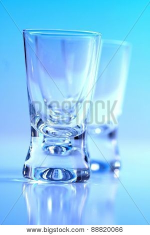 Studio shot of vodka glasses