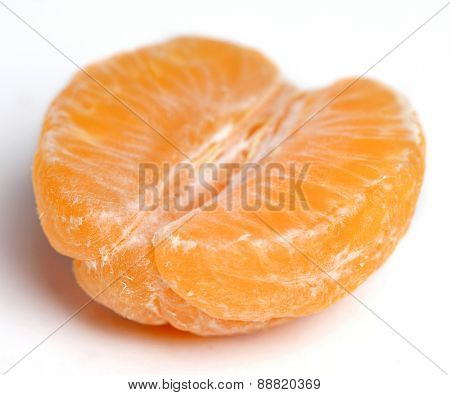 Close up of mandarin on white background