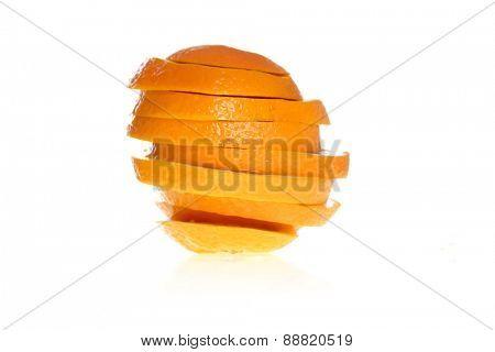 Orange slices  - studio shot