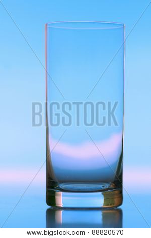 Studio shot of empty glass