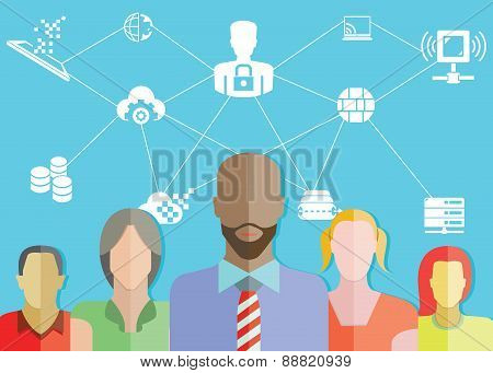 people group and communication concept