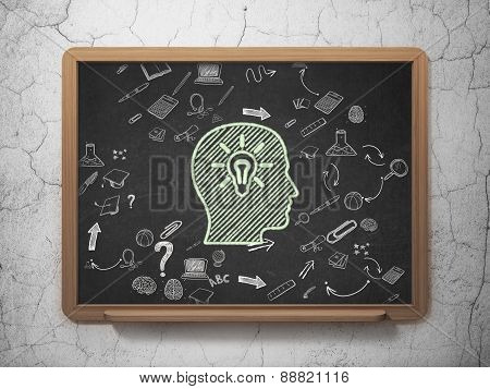 Education concept: Head School Board background